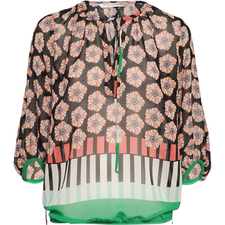 Smit Mode Summum blouse 2s2231 10803 in het WitBlauw