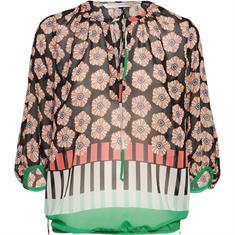 Summum blouse 2s2231-10803 in het Wit/Blauw