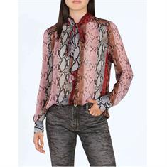 Summum blouse 2s2278-10969 in het Wit/Blauw