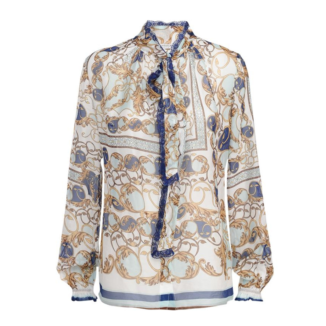 Smit Mode Summum blouse 2s2303 10959 in het WitBlauw