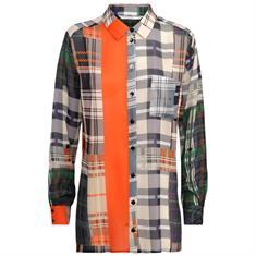Summum blouse 2s2314-10984 in het Wit/Blauw