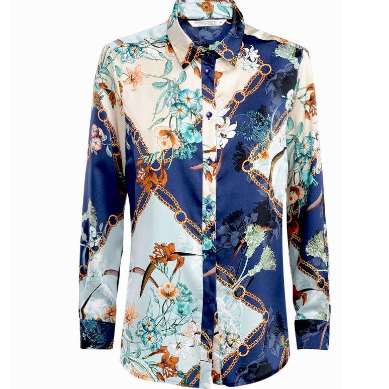 Smit Mode Summum blouse 2s2329 10961 in het WitBlauw