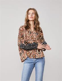 Summum blouse 2s2534-11406 in het Brique