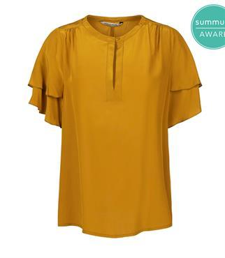 Summum blouse 2s2554-11361 in het Oker