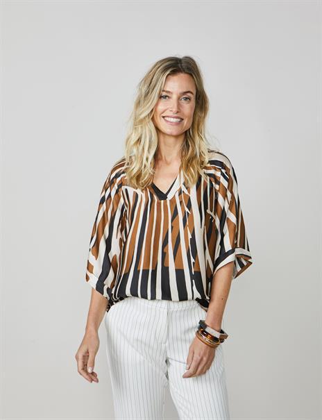 Summum blouse 2s2578-11358 in het Ecru