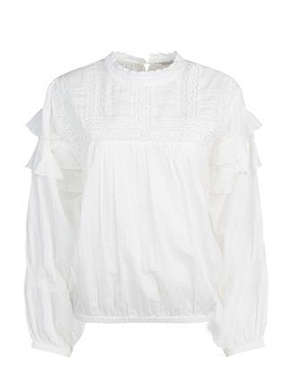 Summum blouse 2s2628-11476 in het Wit/Groen