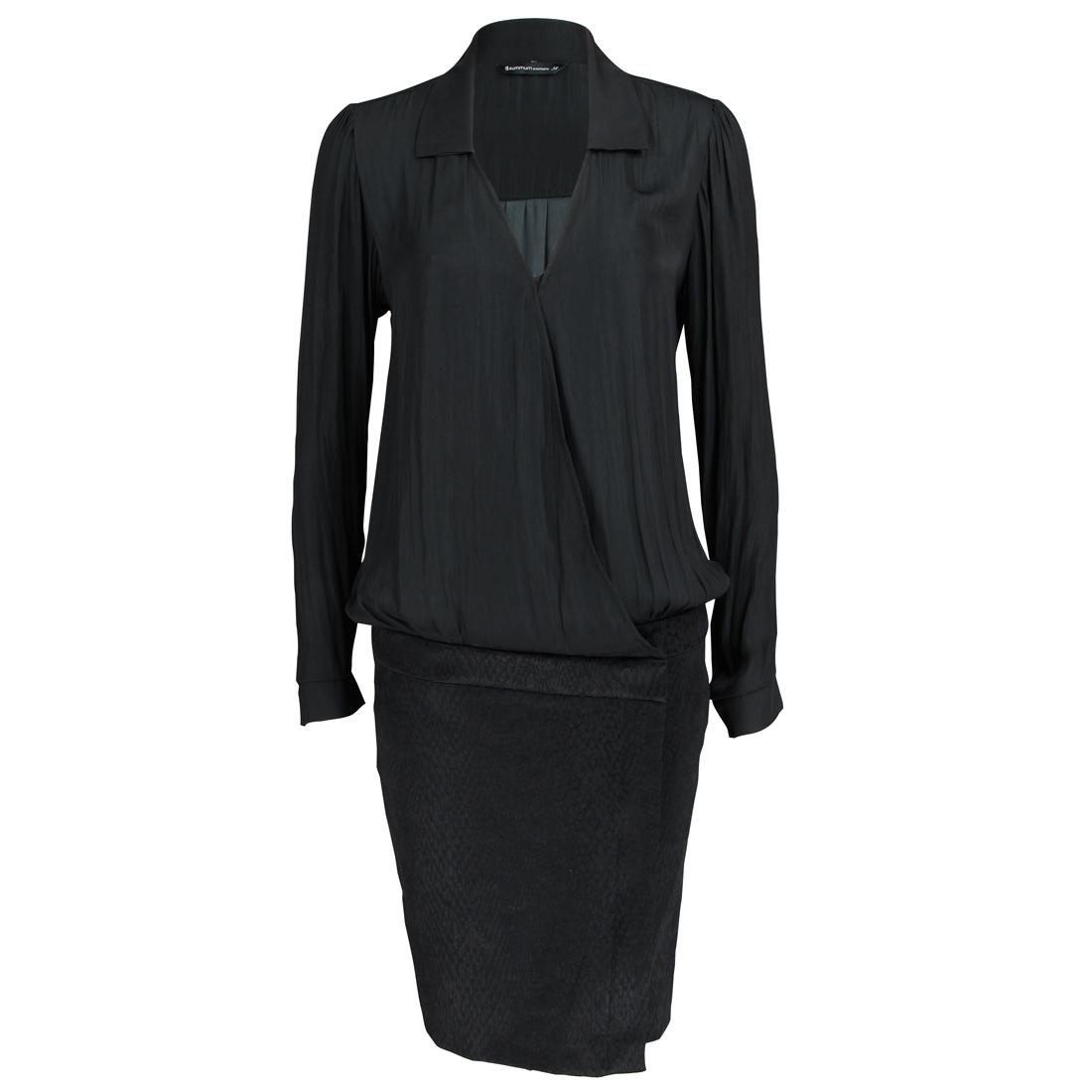 Smit Mode: Summum jurk 5s611 2796 in het Zwart