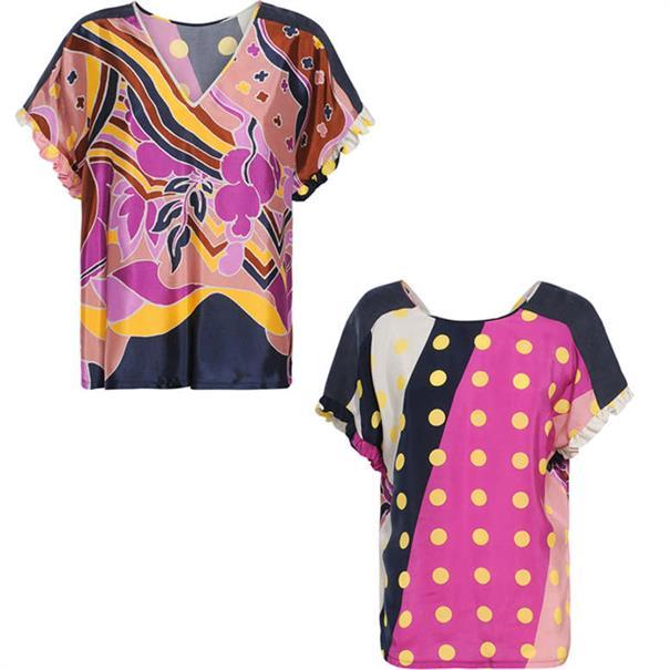 Summum t-shirts 2s2222-10795 in het Wit/Blauw