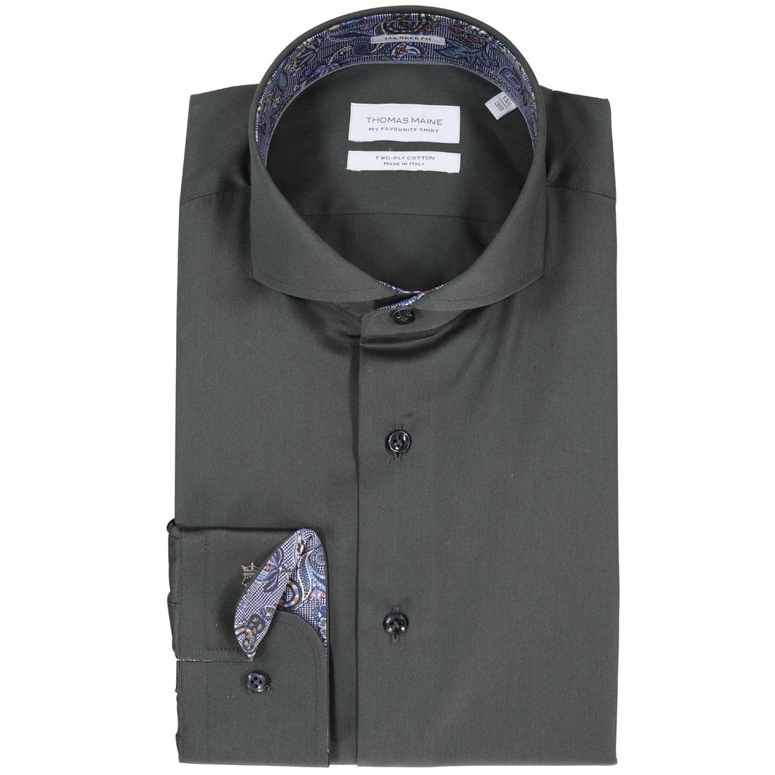 Image of Thomas Maine overhemd 827700 in het Groen