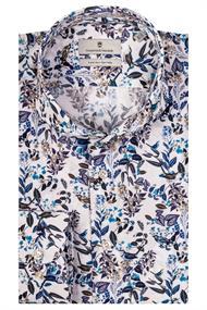 Thomas Maine overhemd Tailored Fit 107734 in het Blauw