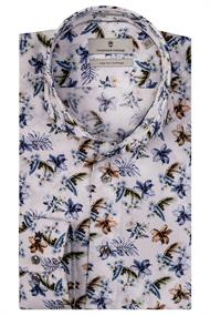 Thomas Maine overhemd Tailored Fit 107748 in het Blauw