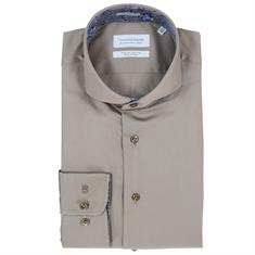 Thomas Maine overhemd Tailored Fit 827700 in het Taupe
