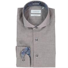Thomas Maine overhemd Tailored Fit 827792 in het Taupe