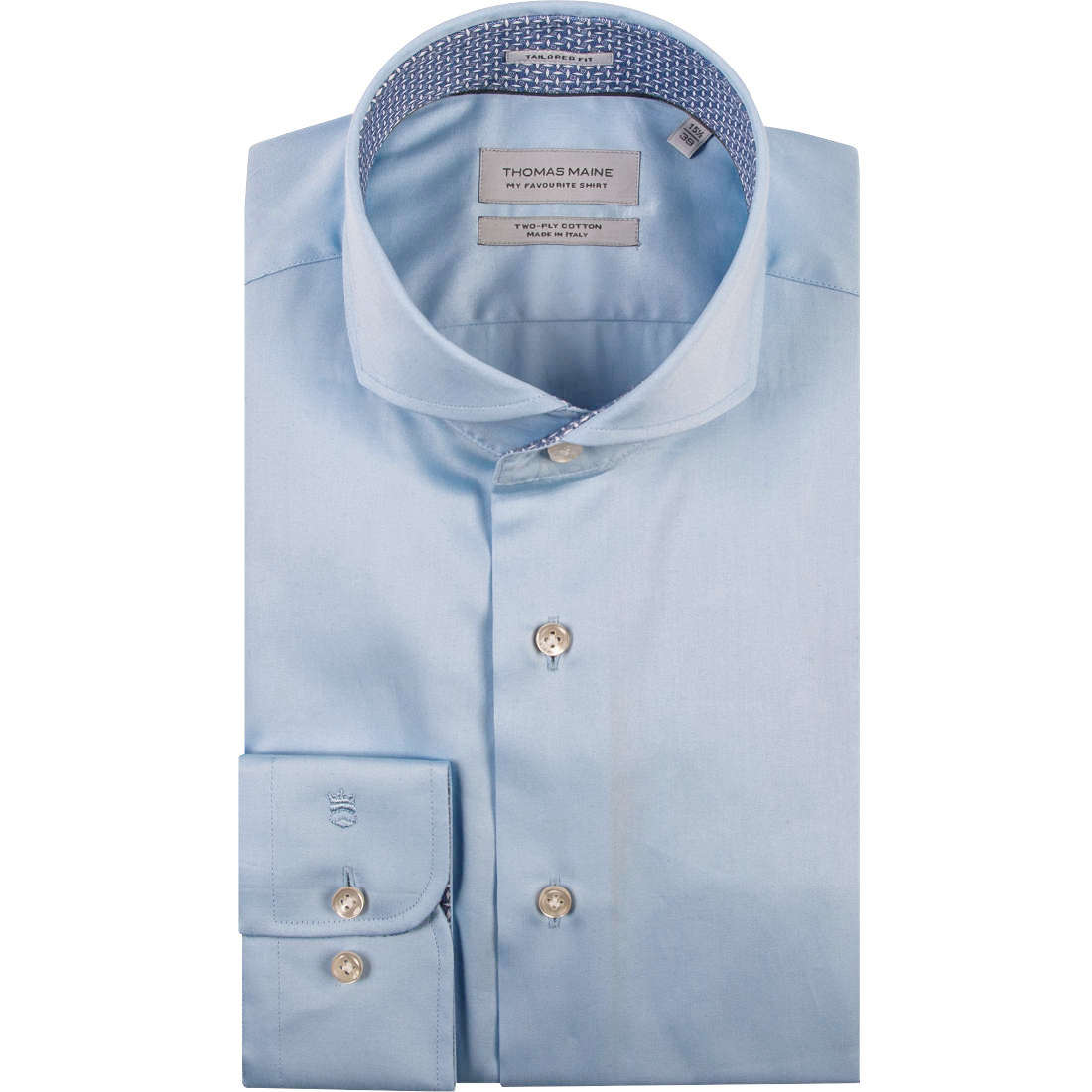Thomas Maine overhemd Tailored Fit 91-7700a in het Licht Blauw