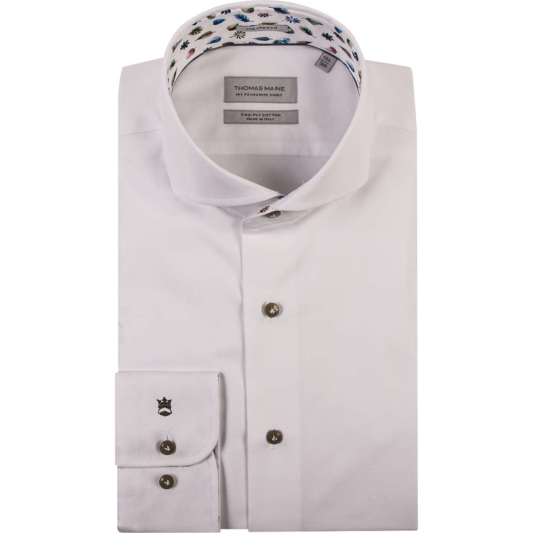 Thomas Maine overhemd Tailored Fit 91-7725a in het Wit