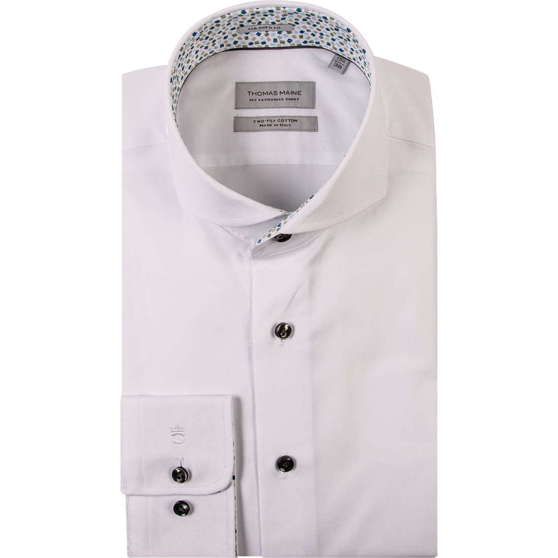 Thomas Maine overhemd Tailored Fit 91-7790 in het Wit