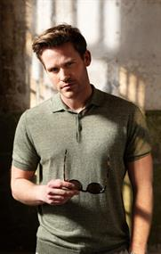 Thomas Maine polo's Tailored Fit 1083TM200 in het Beige