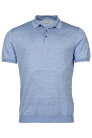 Thomas Maine polo's Tailored Fit 1083TM200 in het Licht Blauw