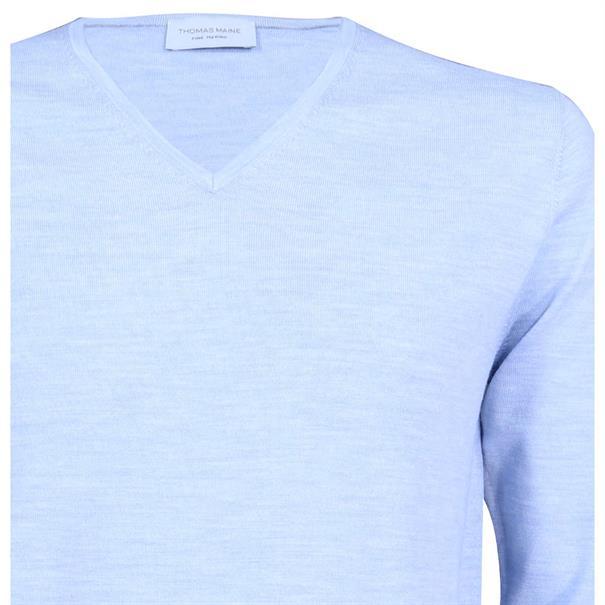 Thomas Maine truien Tailored Fit 91-81tm100 in het Licht Blauw