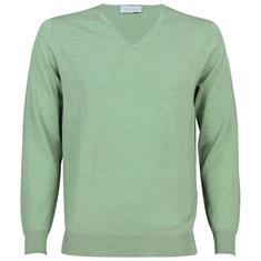 Thomas Maine truien Tailored Fit 91-81tm100 in het Licht Groen