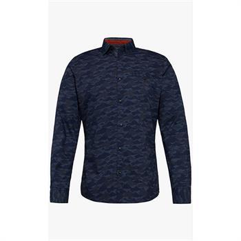 Tom Tailor casual overhemd 1005818 in het Blauw