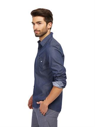 Tom Tailor casual overhemd 20337360010 in het Blauw