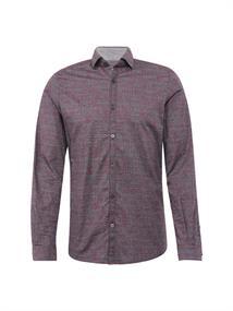 Tom Tailor casual overhemd 20337780010 in het Donker Rood