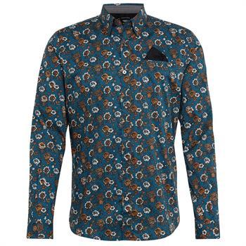 Tom Tailor casual overhemd Regular Fit 1005364 in het Aqua