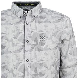 Tom Tailor casual overhemd Tailored Fit 1005380 in het Grijs