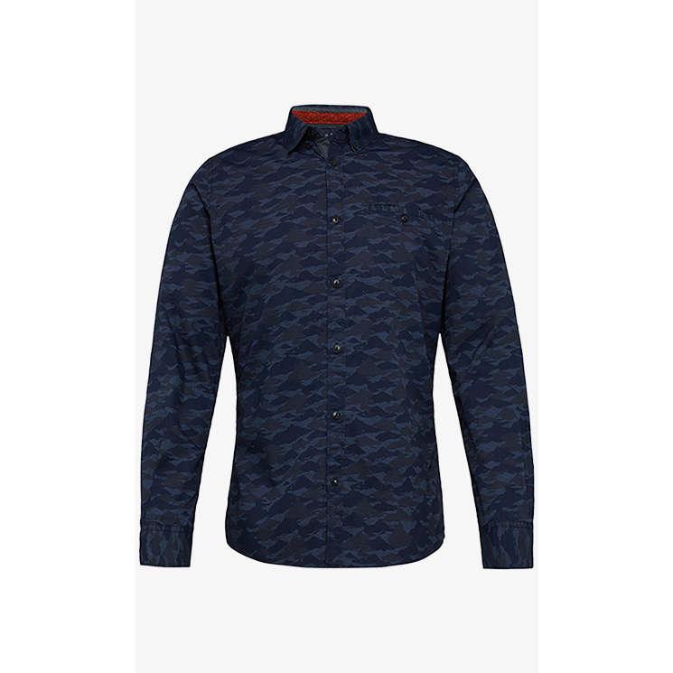 Image of Tom Tailor overhemd 1005818 in het Blauw