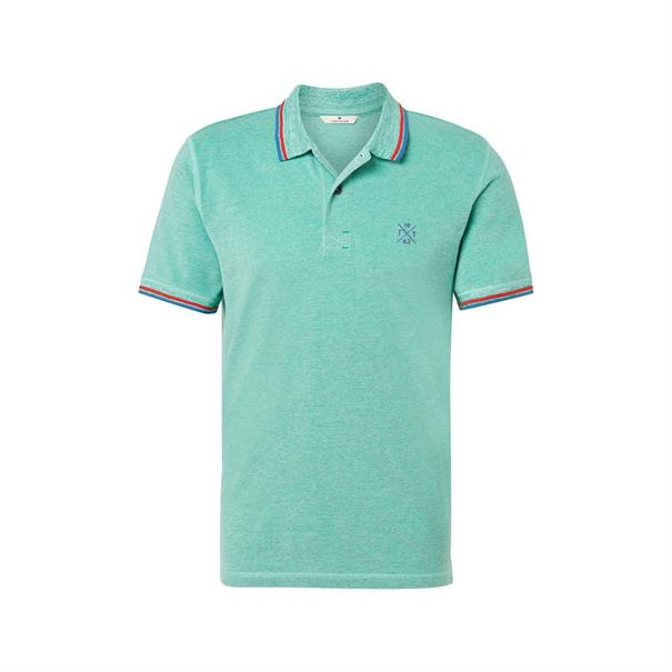 Tom Tailor polo's 1008653 in het Licht Groen