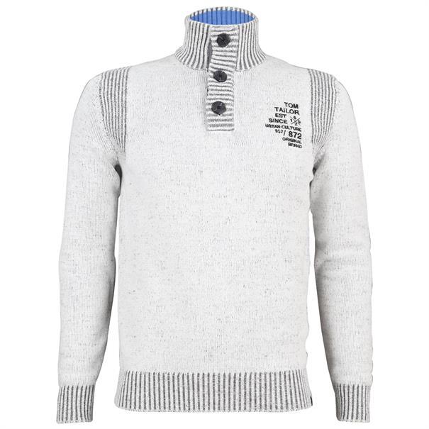 Tom Tailor truien 1006482 in het Offwhite