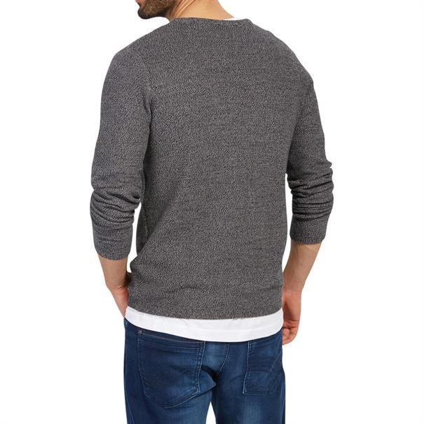 Tom Tailor truien 30228300910 in het Antraciet