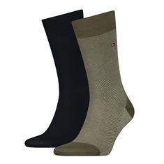 Tommy Socks accessoire 320220001 in het Olijf groen