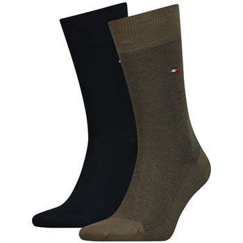 Tommy Socks sokken 482004001 in het Olijf groen