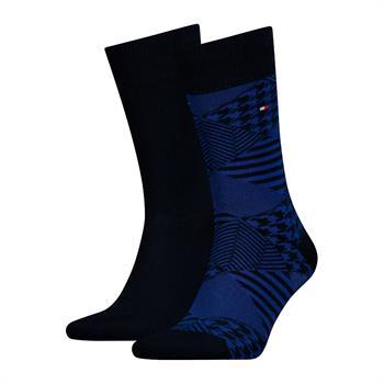 Tommy Socks sokken 492013001 in het Zwart / Blauw