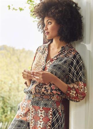 Tramontana blouse c01-01-301 in het Zwart / Wit