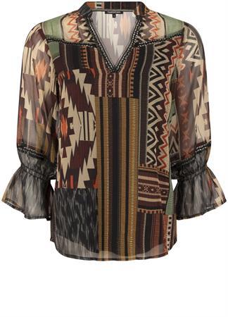 Tramontana blouse c05-01-301 in het Multicolor