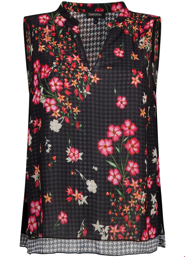 Smit Mode Tramontana blouse c05 92 301 in het Zwart Wit