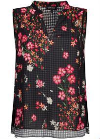 Tramontana blouse c05-92-301 in het Zwart / Wit