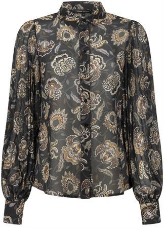 Tramontana blouse C09-02-301 in het Zwart / Wit