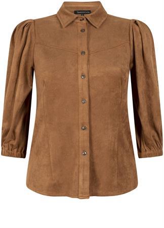 Tramontana blouse Q03-01-401 in het Donker Bruin