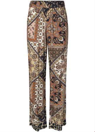 Tramontana flared en wijde broeken c15-94-102 in het Zwart / Wit