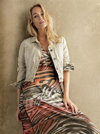 Tramontana jurk c01-95-501 in het Zwart / Wit