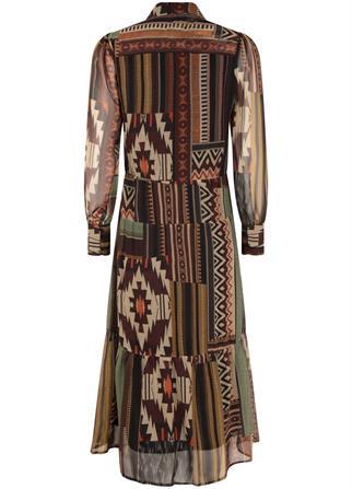 Tramontana jurk c05-01-501 in het Multicolor