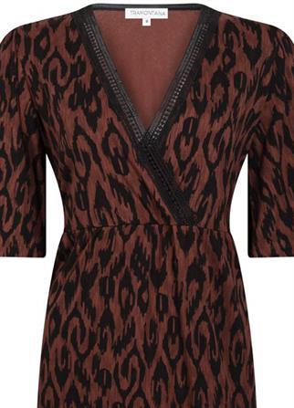 Tramontana jurk D06-98-501 in het Bordeaux