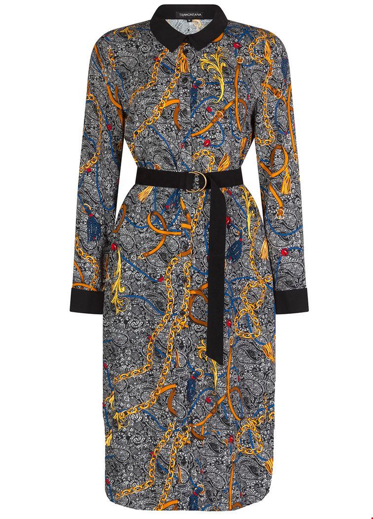 Smit Mode: Tramontana jurk e02 93 501 in het Zwart Wit