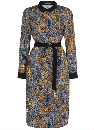 Tramontana jurk e02-93-501 in het Zwart / Wit