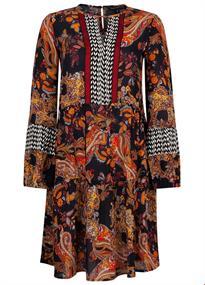 Tramontana jurk i01-92-501 in het Zwart / Wit
