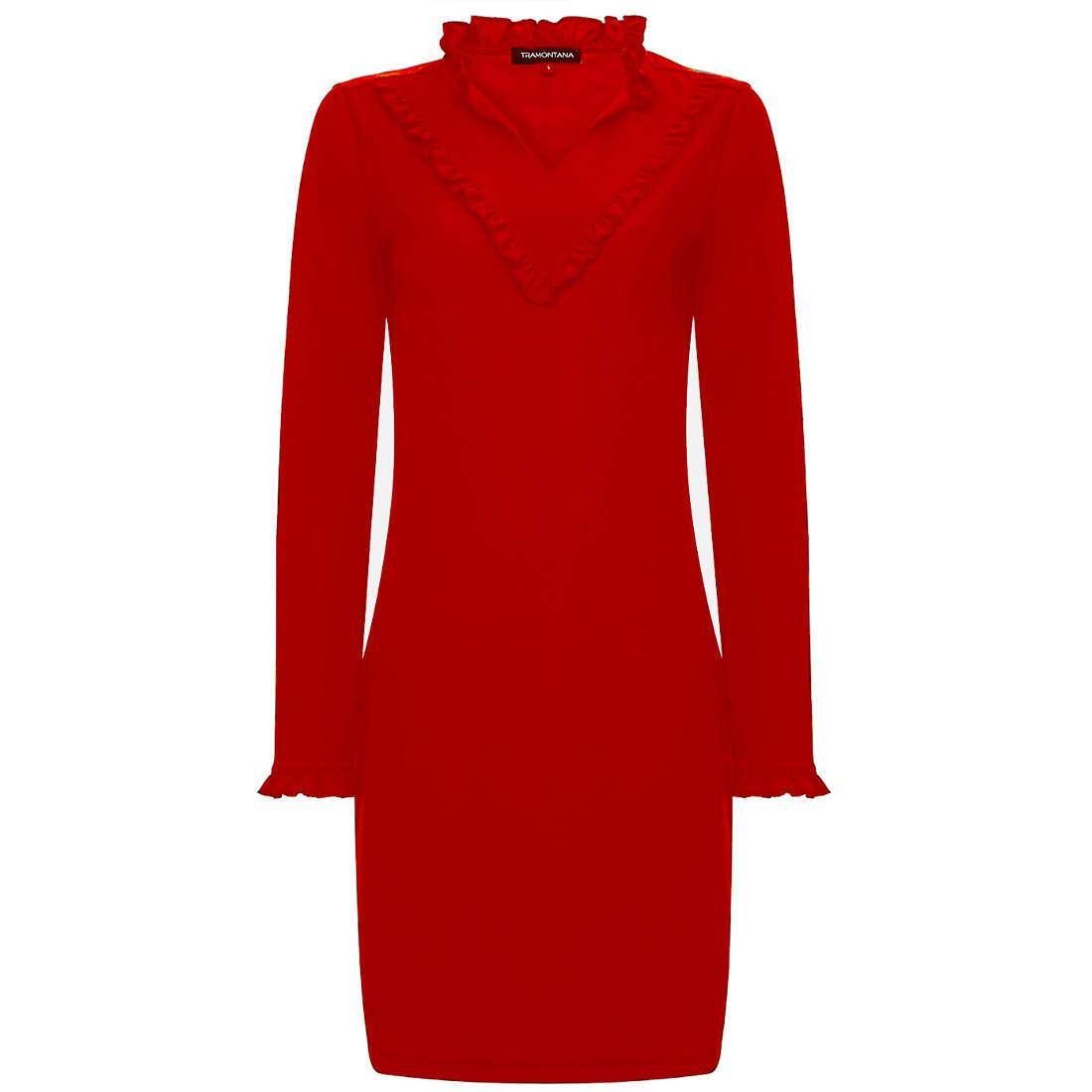 Tramontana jurk r02-89-502 in het Rood